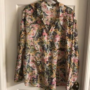 J JILL lightweight print blouse.